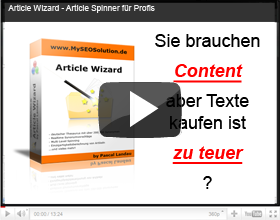 Article Wizard - deutscher Article Spinner