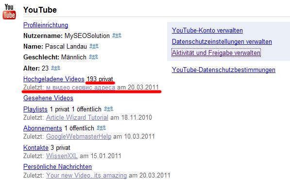 Youtube Account gehackt
