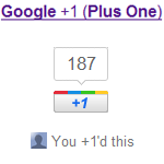 Google +1 (Plus One) Button für Websites