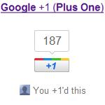 Google Plus One Button für Websites