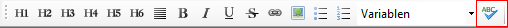 Rechtschreibprüfung im HTML Editor