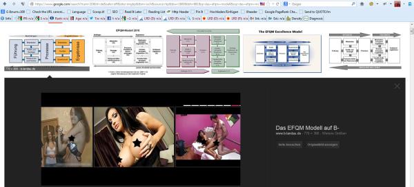 Das erste Ergebnis zeigt ein Pornobild