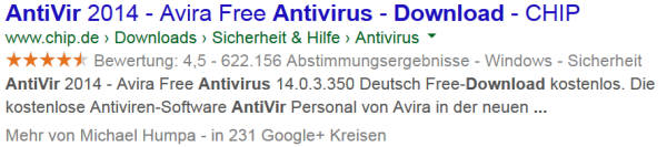 Application Rich Snippets live in den SERPs