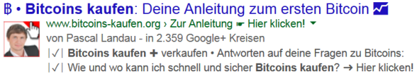 BreadCrumb Rich Snippets live in den SERPs