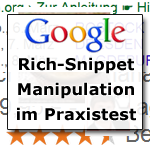 Google Rich Snippet Manipulation
