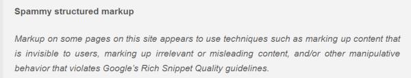 Mitteilung zum Rich Snippet Spam in den Google Webmaster Tools